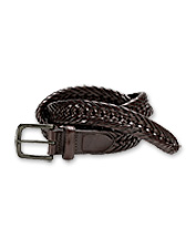 More than just an accessory, this braided leather belt adds a handsome style to any outfit.
