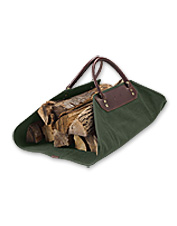 This log carrier features Battenkill canvas and rich leather to add style to a daily chore.