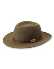 Reach for it in cool weather, but enjoy this classic heathered wool-felt hat for a lifetime.