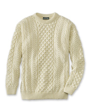 A man's wardrobe is incomplete without our cable-knit crewneck sweater.
