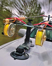 Enjoy convenient transport between locations with our handy fishing rod roof rack.