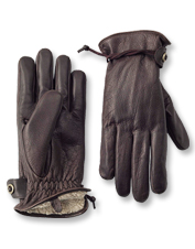 Bison leather makes these men's winter gloves durable and warm.