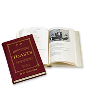 Leather-Bound Toasting Book