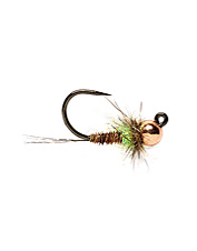 A barbless jig-style hook makes this pattern ride hook up, providing a snag-free drift.