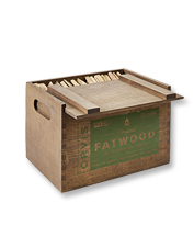 Keep the fire roaring with eco-friendly Orvis Fatwood Fire Starter in our 14-lb. wooden box.