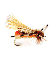 A favorite October-caddis pattern, this fly also imitates other caddisflies.