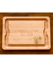 Add a monogram to this Personalized Cutting Board to bring a custom touch to the spread.