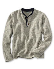 This men's wool sweater is just as comfortable as it looks.