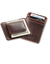 Our Heritage Leather Money Clip offers a low-profile option for the discerning gentleman.