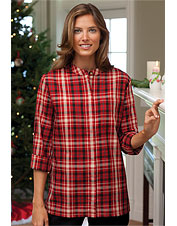 Care-Free Red Plaid Shirt