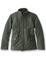 Stay warm without the bulk in the lightweight Powell quilted winter jacket by Barbour.