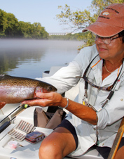 The hands-on approach at our Missouri fly fishing school will have you up to speed in a flash.