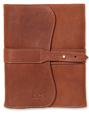 This refillable, leather journal is a great way to record your travels. Made in USA.