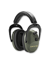Wear Orvis electronic shooting earmuffs and enjoy the ultimate in hearing protection.