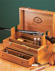 This gun cleaning box is as functional as it is beautiful.