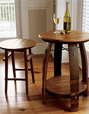 Our wine barrel stave table is a must-have furniture piece. Made in USA.