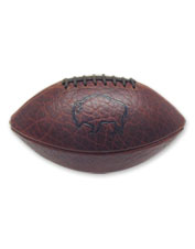 Handsome bison leather makes the Orvis football rugged and enduring.