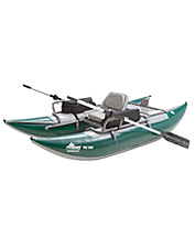 This fly-fishing pontoon boat is a great choice for the avid angler.