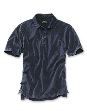 Our soft, comfortable Indigo-Dyed Polo for men is an easy shirt for everyday wear.
