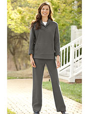 Shawl-Collar & Easy-Fitting Pants Set