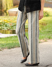 Seersucker Striped Pants