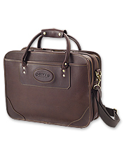Our personalized leather briefcase has multiple compartments to store all your essentials.