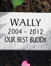 Our Pet Memorials are hand carved in the USA.