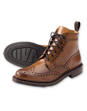 These handsome English Brogue Boots are impeccably styled and handcrafted of fine leather.