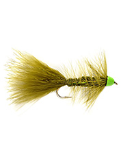 Dressed hot to tempt big fish, this woolly bugger fly is doubly seductive.