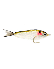 Big, bulky, lifelike Bunker fly -- a sure bet for large, toothy fish.