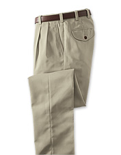 Our men's pleated front microfiber travel pants are an easy way to stay polished on the road.