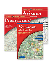 This DeLorme Atlas and Gazetteer has the right maps for all of your needs.