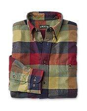 The Autumn Flannel Shirt in a warm-hued plaid is one of the softest you'll ever own.