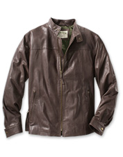 Leather Biswing Jacket