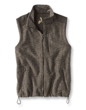 Complete your fall-through-winter wardrobe with this trimmed fleece vest for men.