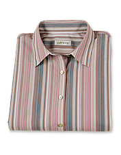 Care-Free Thistle-Stripe Shirt