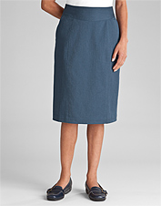 Easy-Stretch Straight Skirt