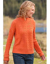 Canterbury Luxury Knit Cabled Mockneck