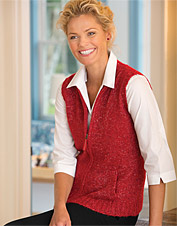 Zip-Front Sweater Vest