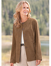 Country Suede Jewelneck Jacket