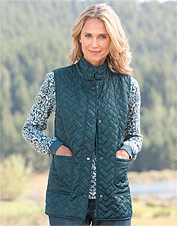 Basketweave Quilted Vest