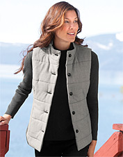 Houndstooth Quilted Wool Vest