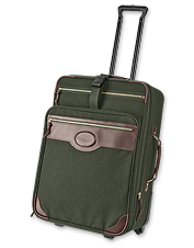 Take all of your belongings with you in style with this expandable suitcase.