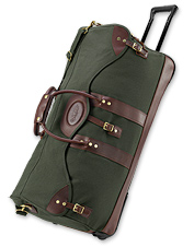 Stay prepared and organized on the road with this rolling duffle bag.