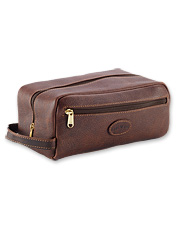 Our leather travel bag for men is a handsome way to carry all your necessities.