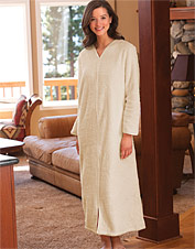 Plush Fleece Zip-Front Robe