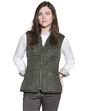 This ladies quilted gilet is ideal for layering.