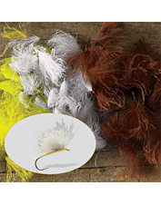 Dense CDC feathers are excellent for tying any small dry fly or midge. Made in USA.