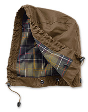 Add a handy, versatile hood to your Barbour waxed cotton jacket.