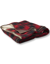 You'll want to keep this fleece Orvis Suede Trim Throw nearby for frosty mornings and nights.